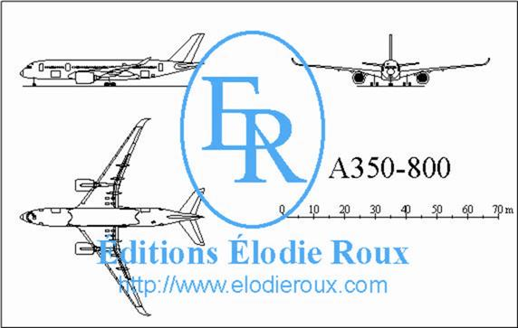 Copyright: Elodie Roux/A350-800 3-view drawing/plan 3 vues