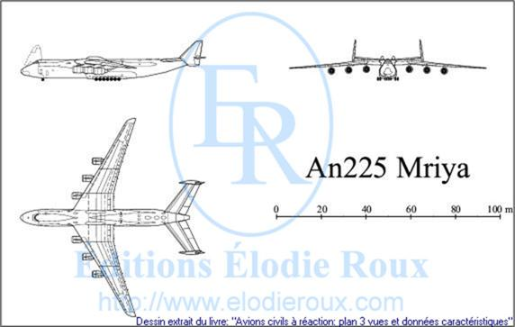 Copyright: Elodie Roux/An225 3-view drawing/plan 3 vues
