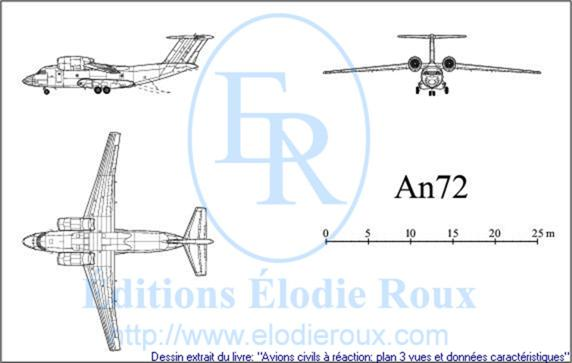 Copyright: Elodie Roux/An72 3-view drawing/plan 3 vues