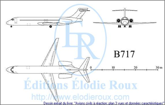 Copyright: Elodie Roux/B717 3-view drawing/plan 3 vues