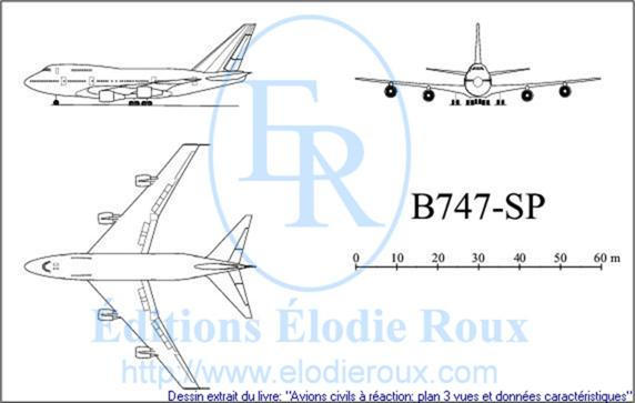 Copyright: Elodie Roux/B747sp 3-view drawing/plan 3 vues