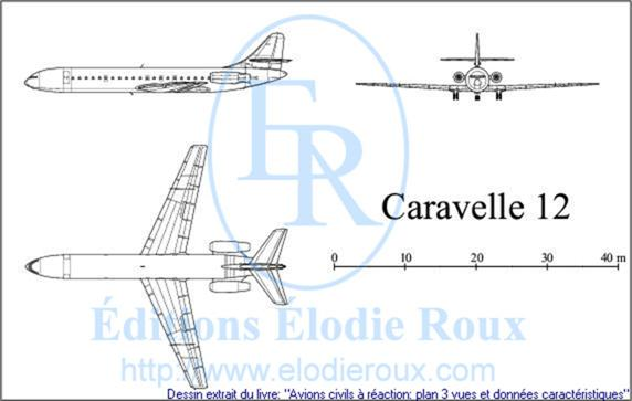 Copyright: Elodie Roux/Caravelle12 3-view drawing/plan 3 vues
