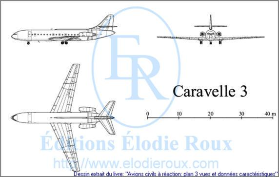 Copyright: Elodie Roux/Caravelle3 3-view drawing/plan 3 vues