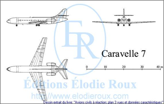 Copyright: Elodie Roux/Caravelle7 3-view drawing/plan 3 vues
