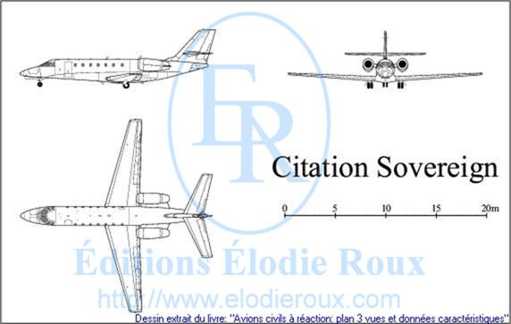 Copyright: Elodie Roux/CitationSovereign 3-view drawing/plan 3 vues