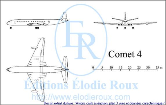 Copyright: Elodie Roux/Comet4 3-view drawing/plan 3 vues