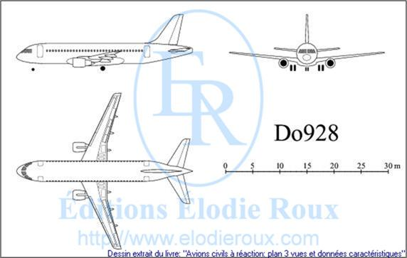 Copyright: Elodie Roux/Do928 3-view drawing/plan 3 vues