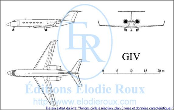 Copyright: Elodie Roux/GIV 3-view drawing/plan 3 vues