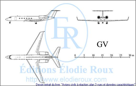 Copyright: Elodie Roux/GV 3-view drawing/plan 3 vues