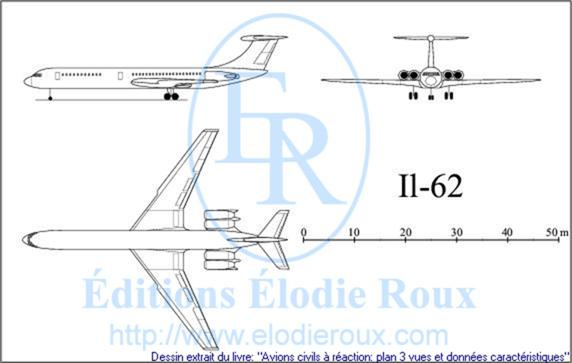 Copyright: Elodie Roux/Il62 3-view drawing/plan 3 vues