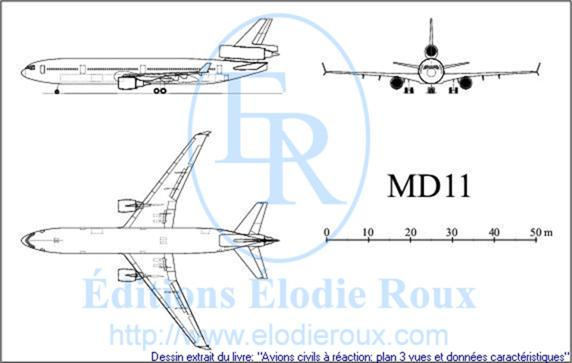 Copyright: Elodie Roux/MD11 3-view drawing/plan 3 vues