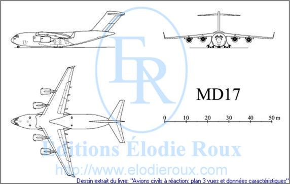 Copyright: Elodie Roux/MD17 3-view drawing/plan 3 vues