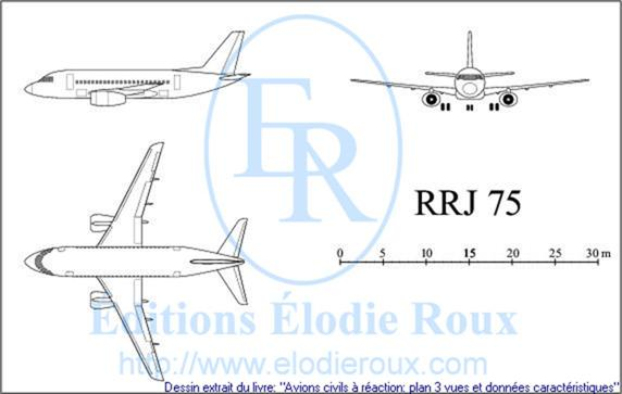 Copyright: Elodie Roux/RRJ75 3-view drawing/plan 3 vues