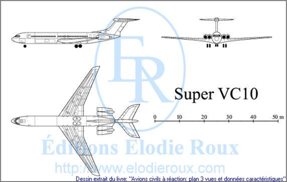 Copyright: Elodie Roux/SuperVC10 3-view drawing/plan 3 vues